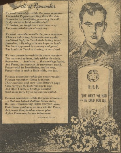 Miscellaneous Clippings - Pictou County War Cenotaphs